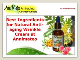 Try Most Efficient Anti-aging wrinkle Cream for Your Skin from Annimateo