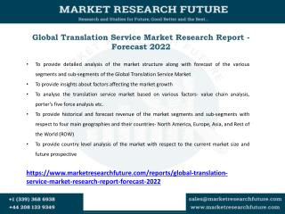 Translation Service Market Key Players, Applications, Size, Share, Industry Development, Segments to 2027
