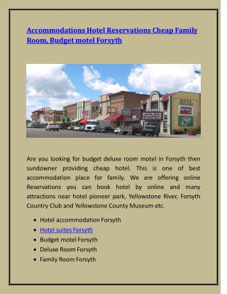 Accommodations Hotel Reservations Cheap Family Room, Budget motel Forsyth