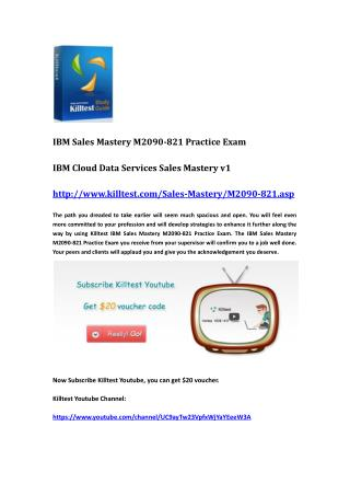 IBM Certification M2090-821 Questions and Answers