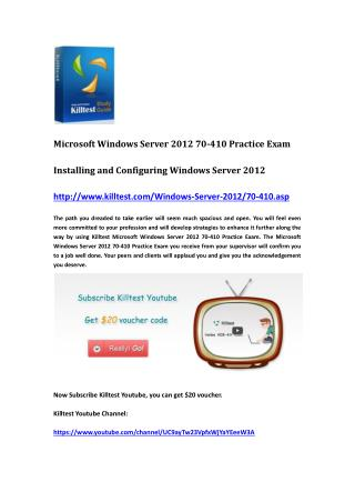 Microsoft Certification 70-410 Questions and Answers