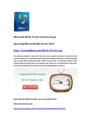 Microsoft Certification 70-461 Questions and Answers