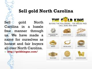 Sell gold North Carolina