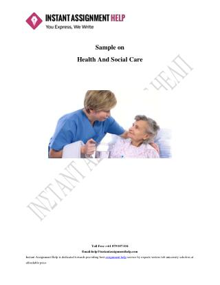 Social and Health Care