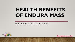 Top Health Benefits of Endura Mass – A Weight Gainer