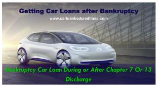 How to Get Auto Loans After Bankruptcy