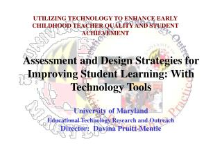 Assessment and Design Strategies for Improving Student Learning: With Technology Tools