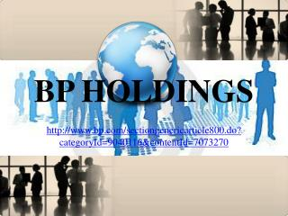 Our Joint Venture Partners, bp holdings barcelona
