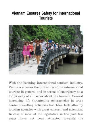 Vietnam Ensures Safety for International Tourists