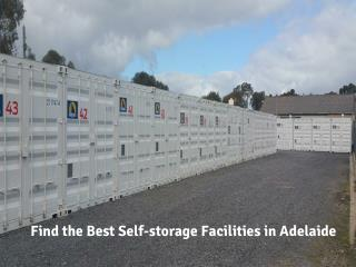 Find the Best Self-storage Facilities in Adelaide