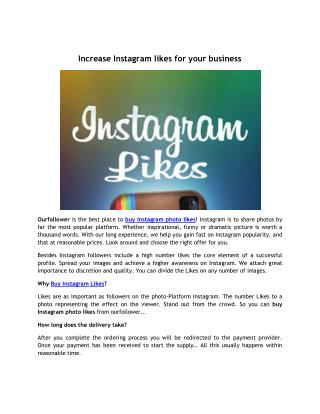 Increase Instagram likes for your business