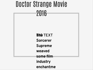 Doctor Strange Movie 2016