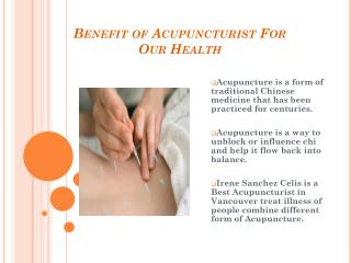 Meet Acupuncture in Vancouver for Better health