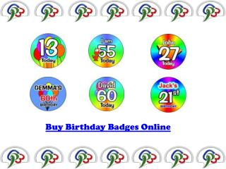 Buy Birthday Badges Online
