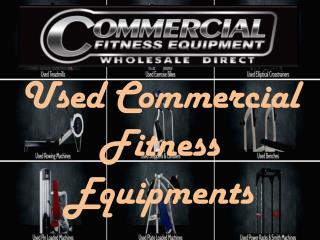 Used Commercial Fitness Equipments in Australia- Gym Equipment For Sale