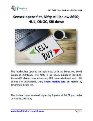 TradeIndia Research- Share Market Tips