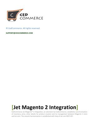 Jet Magento 2 Integration User Manual By CedCommerce !