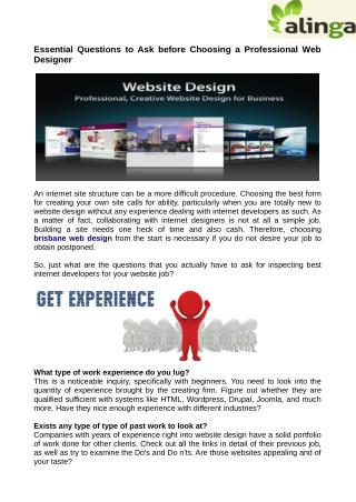 Essential Questions to Ask before Choosing a Brisbane Web Design