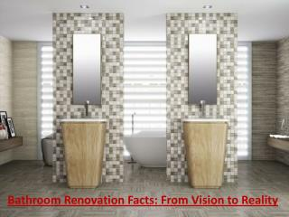 Bathroom Renovation Facts: From Vision to Reality