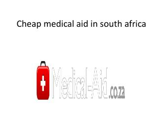 Cheap medical aid in south africa