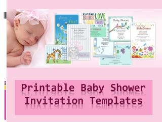Printable Baby Shower Invitation Templates