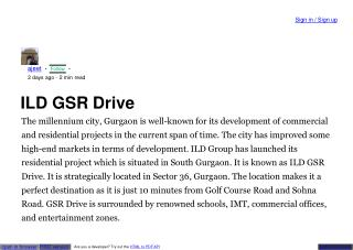 ILD Gsr Drive Residential Project