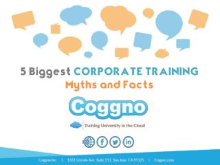 5 Biggest CORPORATE TRAINING  Myths and Facts