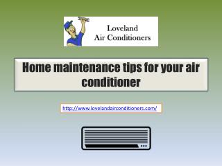 Home Maintenance Tips For Your Air Conditioner