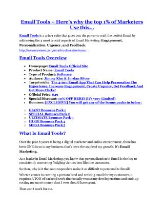 Email Tools review- Email Tools $27,300 bonus & discount