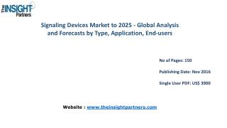 Signaling Devices Market to 2025-Industry Analysis, Applications, Opportunities and Trends |The Insight Partners