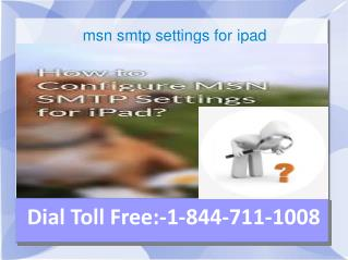 msn smtp settings for ipad | MSN Email Settings