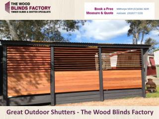 Great Outdoor Shutters - The Wood Blinds Factory