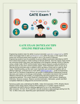 Gate online Exam | Gate Geology