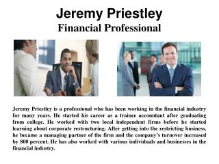 Jeremy Priestley - Financial Professional