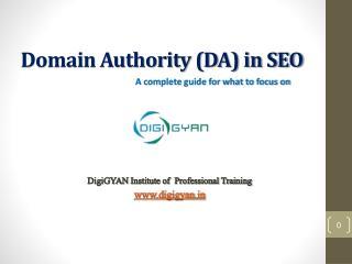 Domain Authority (DA) in SEO