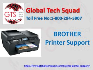 Brother printer toner support dial.1-800-294-5907.