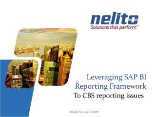 Leveraging SAP BI Reporting