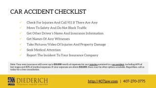 Orlando, FL Car Crash Checklist