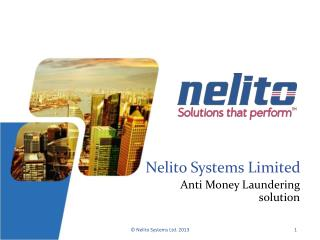 Anti Money Laundering Solution | Nelito