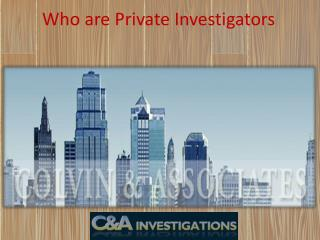 Who are Private Investigators