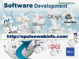 Software development companies in amritsar- Epulsewebinfo.com-Php Web Development Services- Software companies in India