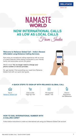 How To Use Reliance Global Call