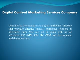 Vital Role Played by Content Marketing Services