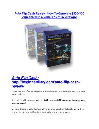 Auto Flip Cash review and (GET)  100 items bonus pack