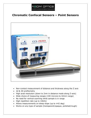 Chromatic Confocal Sensors – Point Sensors