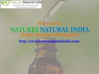 Shop Pure and Natural Essential Oils Online at Natures Natural India