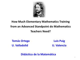 How  Much Elementary Mathematics Training from an Advanced Standpoint do Mathematics Teachers Need?