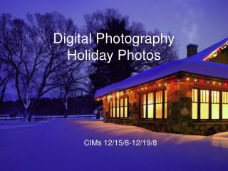 Digital Photography Holiday Photos
