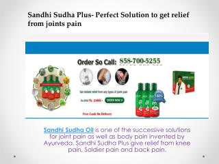 Sandhi Sudha - A joint releif formula