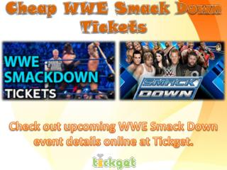 Cheap wwe smack down tickets